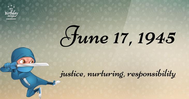 June 17, 1945 Birthday Ninja