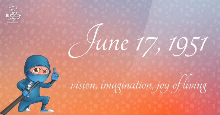 June 17, 1951 Birthday Ninja