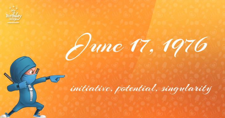 June 17, 1976 Birthday Ninja