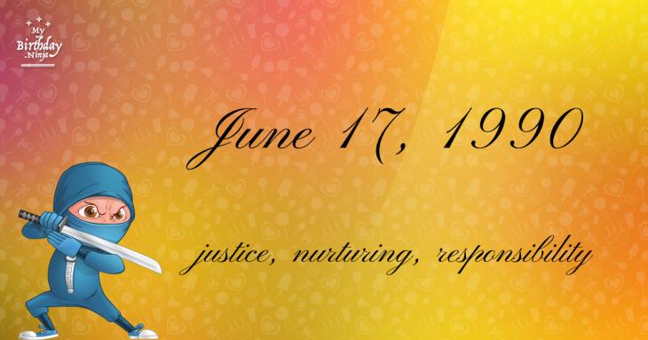June 17, 1990 Birthday Ninja