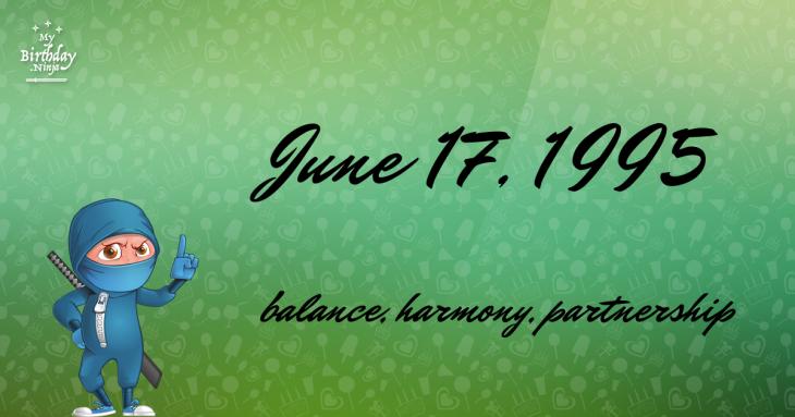 June 17, 1995 Birthday Ninja
