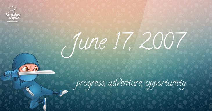 June 17, 2007 Birthday Ninja
