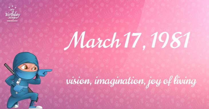 March 17, 1981 Birthday Ninja