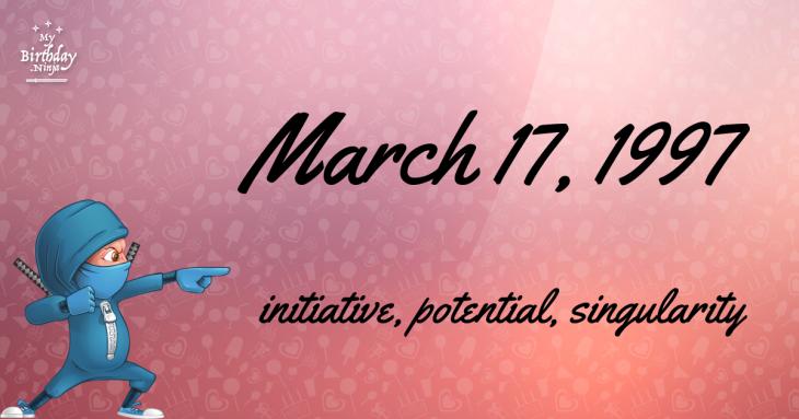 March 17, 1997 Birthday Ninja