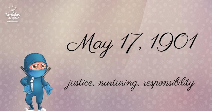 May 17, 1901 Birthday Ninja