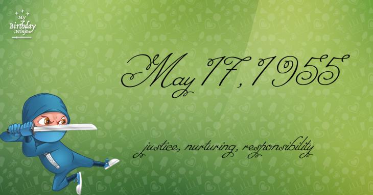 May 17, 1955 Birthday Ninja