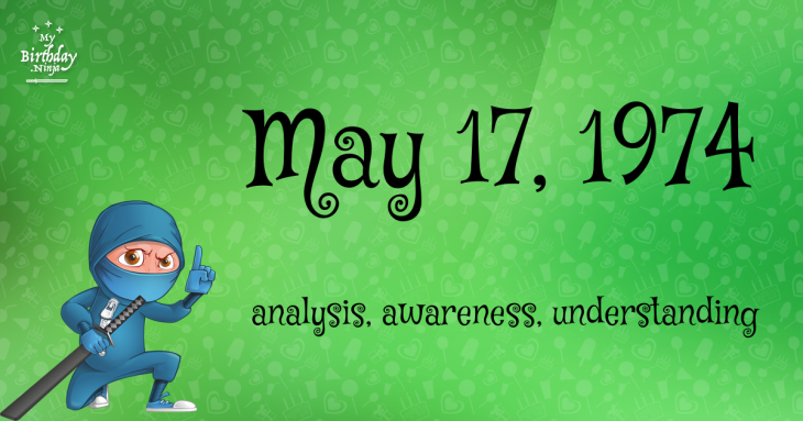 May 17, 1974 Birthday Ninja