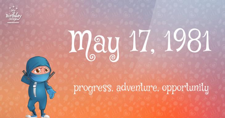 May 17, 1981 Birthday Ninja