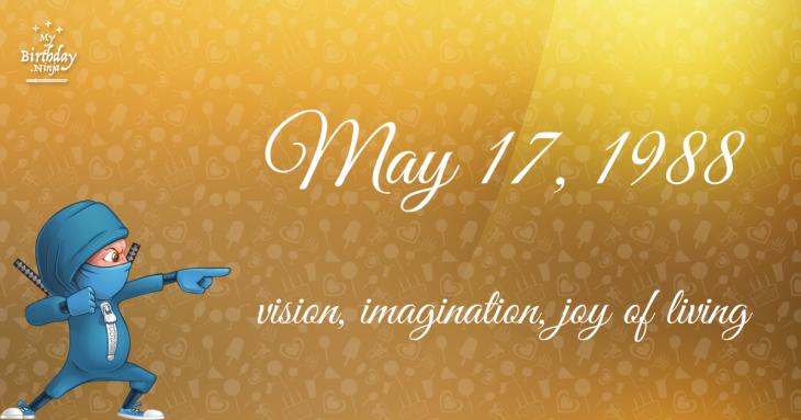 May 17, 1988 Birthday Ninja