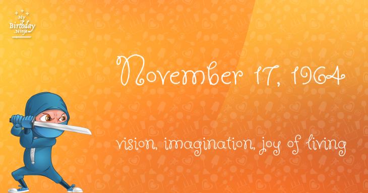 November 17, 1964 Birthday Ninja