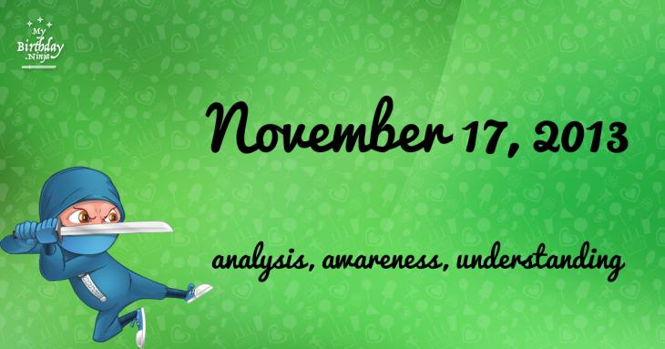 November 17, 2013 Birthday Ninja