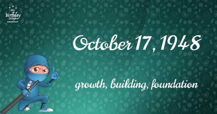 October 17, 1948 Birthday Ninja