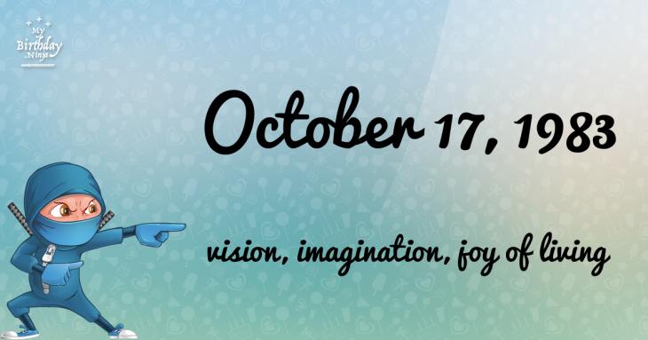 October 17, 1983 Birthday Ninja