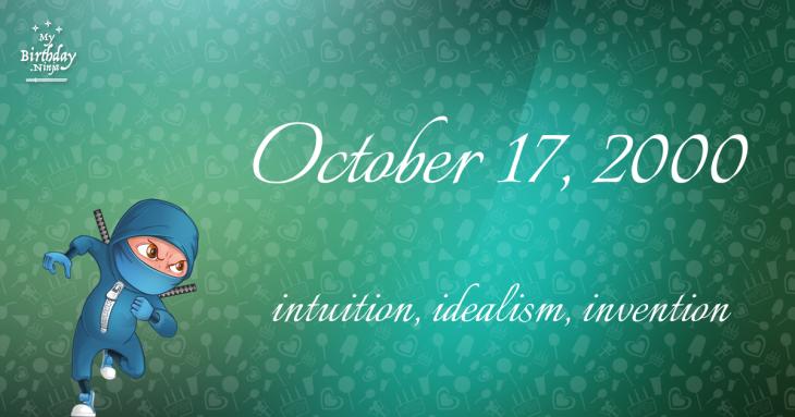 October 17, 2000 Birthday Ninja
