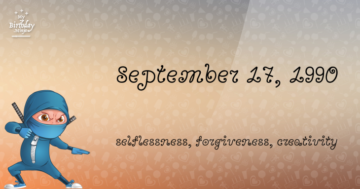 September 17, 1990 Birthday Ninja