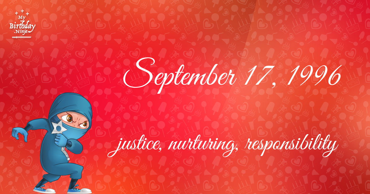 September 17, 1996 Birthday Ninja Poster