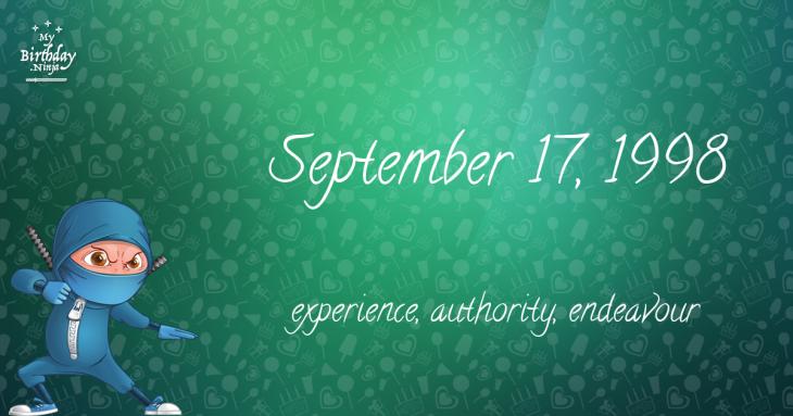 September 17, 1998 Birthday Ninja