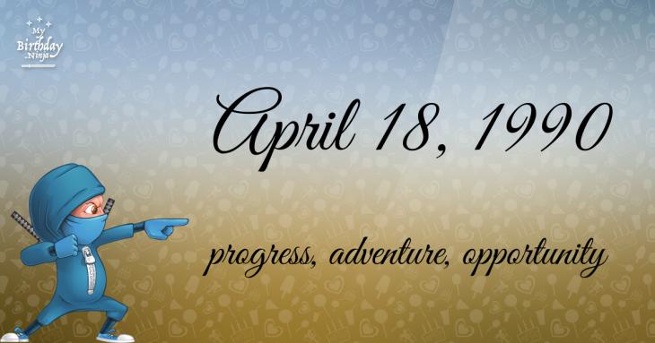 April 18, 1990 Birthday Ninja