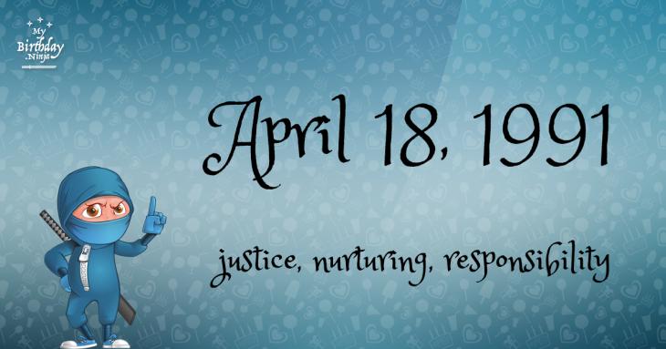 April 18, 1991 Birthday Ninja