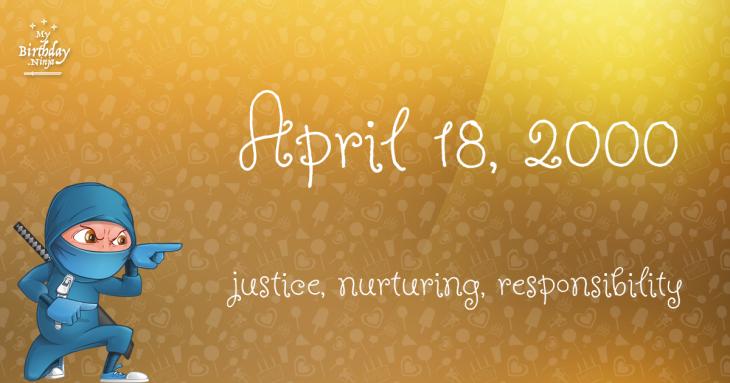 April 18, 2000 Birthday Ninja