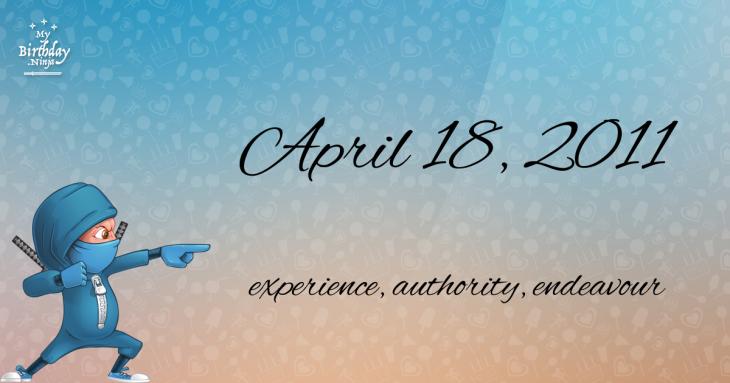 April 18, 2011 Birthday Ninja