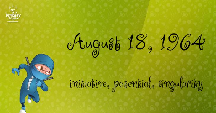 August 18, 1964 Birthday Ninja
