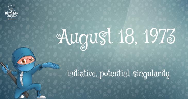 August 18, 1973 Birthday Ninja
