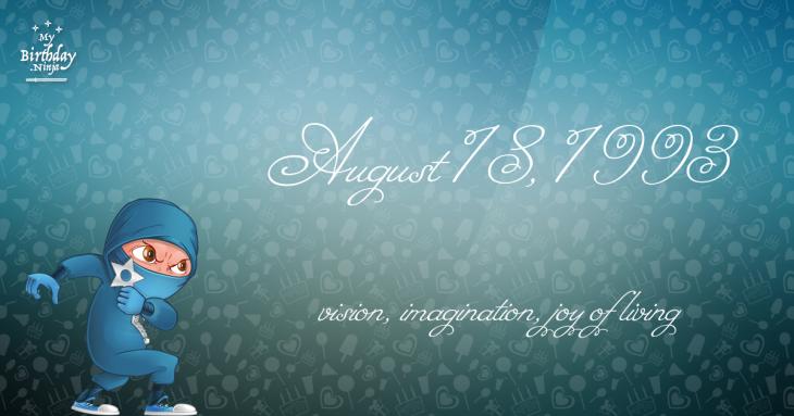August 18, 1993 Birthday Ninja