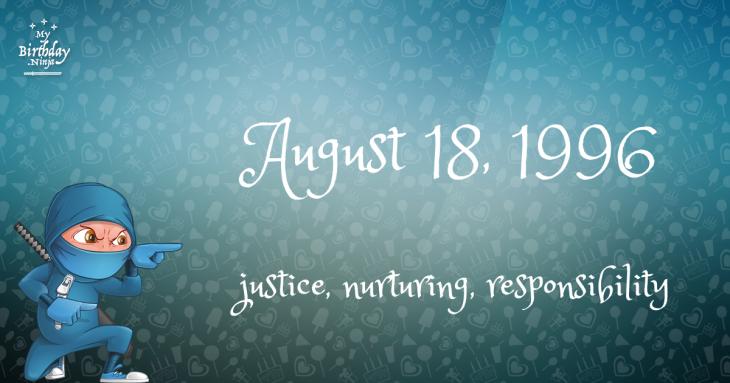 August 18, 1996 Birthday Ninja
