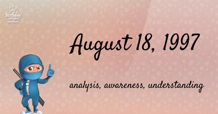 August 18, 1997 Birthday Ninja