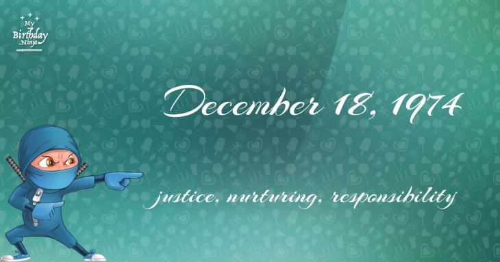 December 18, 1974 Birthday Ninja