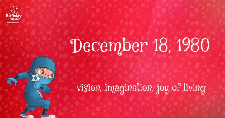 December 18, 1980 Birthday Ninja