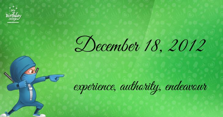 December 18, 2012 Birthday Ninja