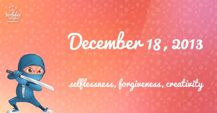 December 18, 2013 Birthday Ninja