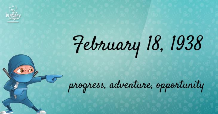 February 18, 1938 Birthday Ninja