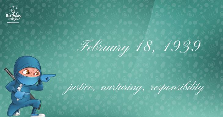 February 18, 1939 Birthday Ninja