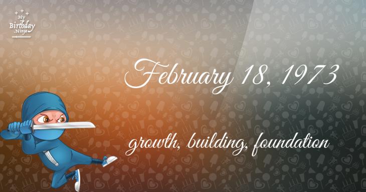 February 18, 1973 Birthday Ninja
