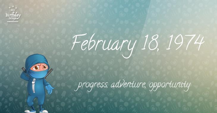 February 18, 1974 Birthday Ninja