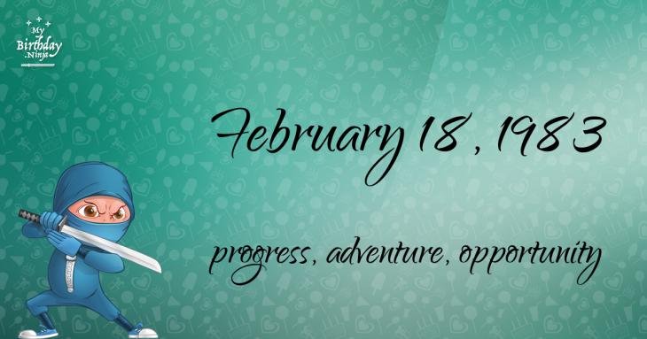 February 18, 1983 Birthday Ninja