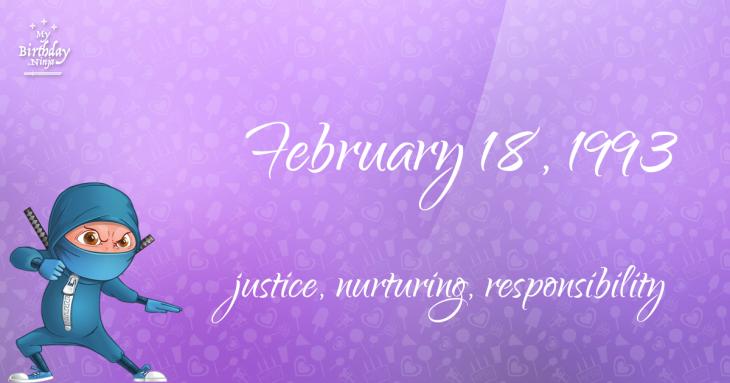 February 18, 1993 Birthday Ninja