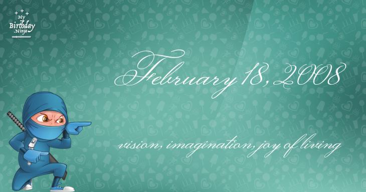 February 18, 2008 Birthday Ninja