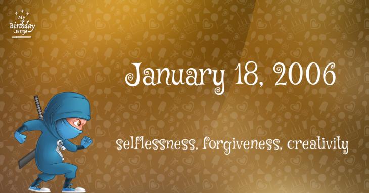 January 18, 2006 Birthday Ninja