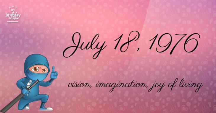 July 18, 1976 Birthday Ninja