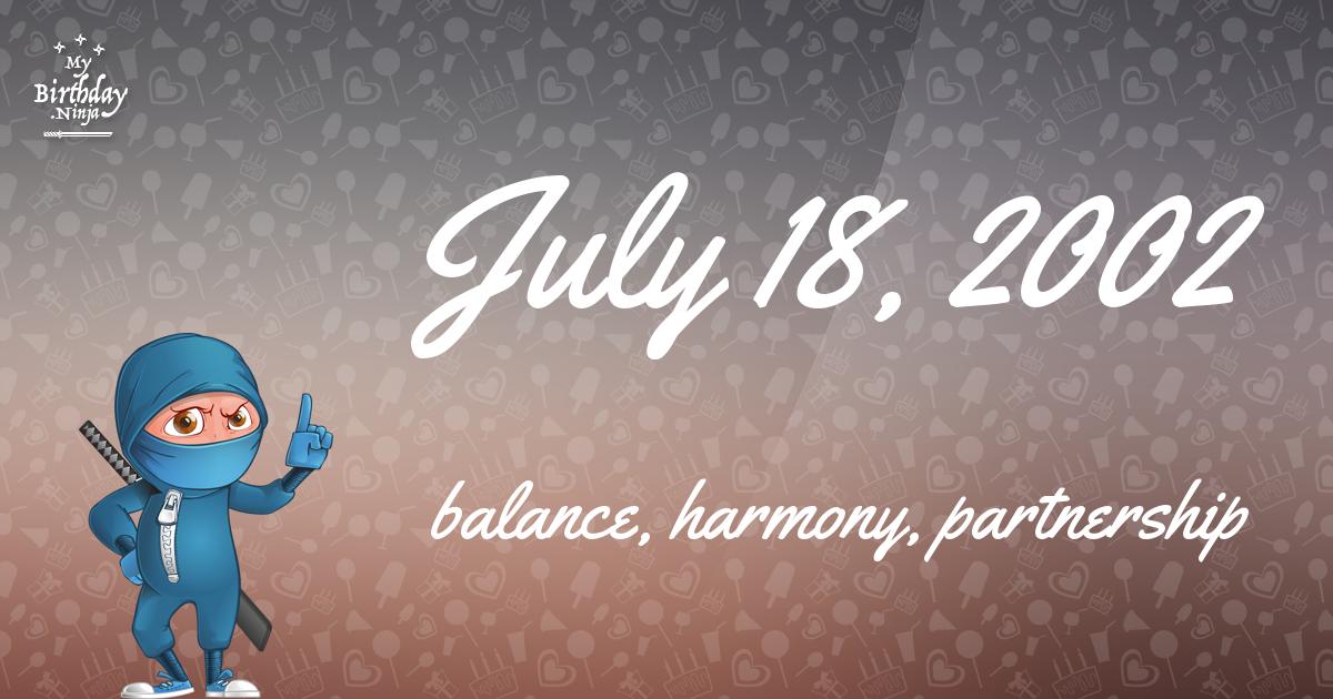 July 18, 2002 Birthday Ninja Poster