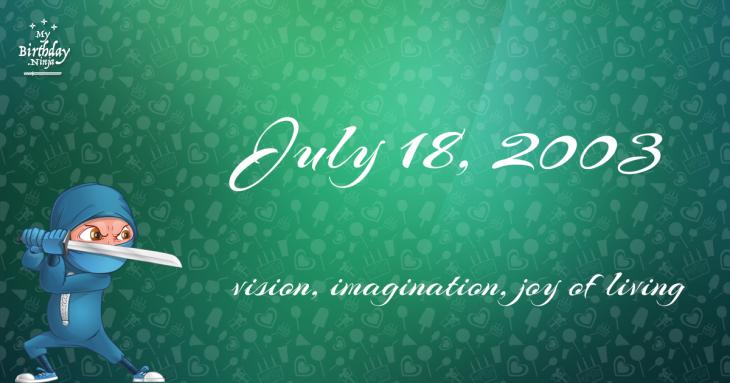 July 18, 2003 Birthday Ninja
