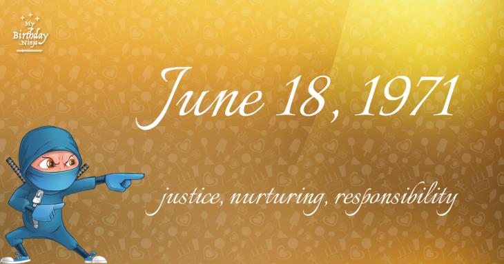 June 18, 1971 Birthday Ninja