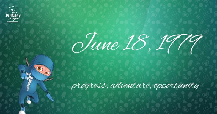 June 18, 1979 Birthday Ninja