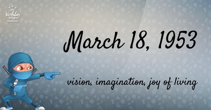 March 18, 1953 Birthday Ninja