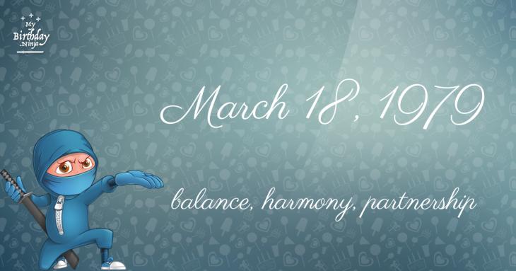 March 18, 1979 Birthday Ninja