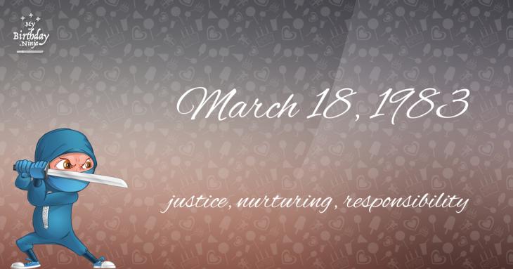 March 18, 1983 Birthday Ninja